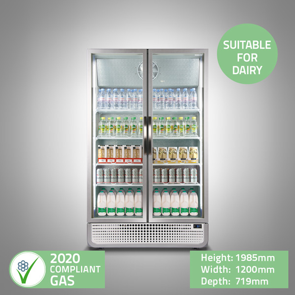 Double Glass Door Display Fridge
