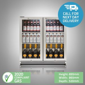 Double Door Bar Fridge