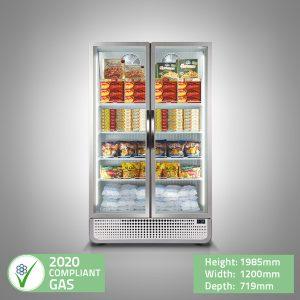 PRO Double Glass Door Display Freezer