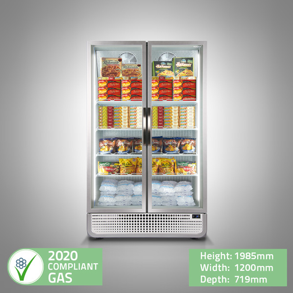 PRO Double Glass Door Display Freezer